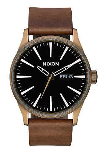 Reloj NIXON Sentry Leather Marron/Negro Unisex