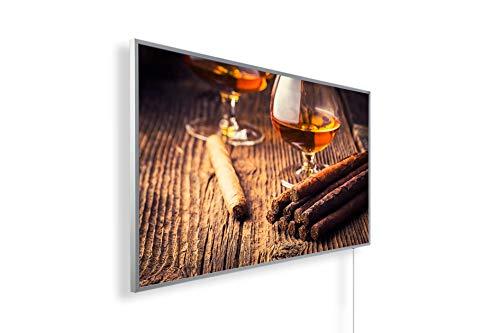 Bild Infrarotheizung (130W/300W/450W/600W/800W/1000W) mit 5 Jahren Garantie (1000, Cognac, Zigarre)
