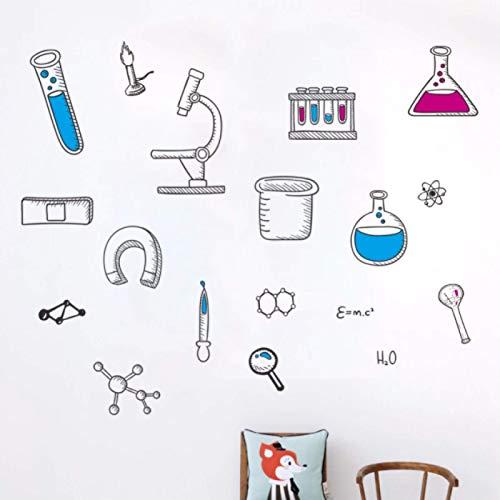 Chemische Instrument Wandaufkleber für Kinderzimmer Klassenzimmer Labor Kinderzimmer Wanddekoration Wohnkultur Tapeten Aufkleber