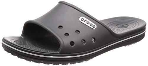 Crocs Crocband 2 Slide, Unisex - Erwachsene Badeschuhe, Grau (Slate Grey/White), 41/42 EU