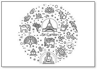 Sri Lanka Symbols And Icons, Illustration Classic Fridge Magnet
