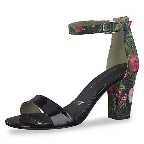 Tamaris 28315-22 043 dames modieuze sandaal van imitatieleer met 60 mm hak