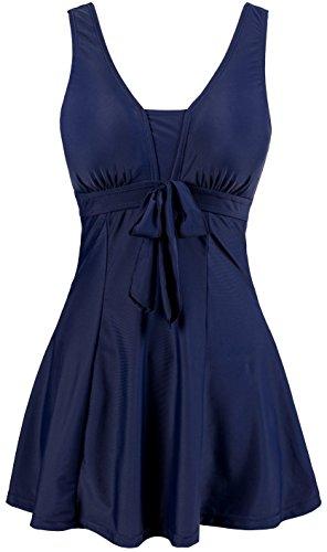Wantdo Women's Cute Plus Size Swimsuits Beach Living SwimMini Hot Spring Dress