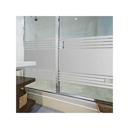 LAVICO|M Sichtschutzfolie von ORAFOL® Dusche Sauna Schwimmbad Duschkabine Bad WC Badezimmer Streifendesign Glasdekorfolie