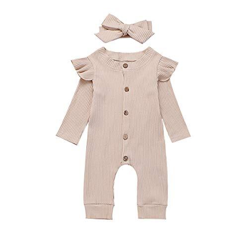 Fiomva Pasgeboren Baby Meisje 2 STKS Herfst Kleding Set Romper Jumpsuit Eendelige Outfits