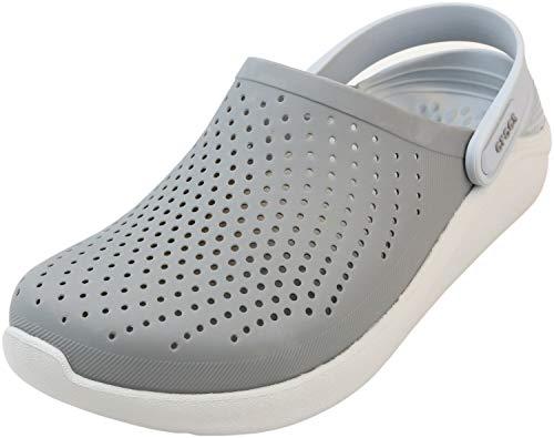 Crocs Unisex LiteRide Clog Clogs, Smoke/Pearl White, 48/49 EU