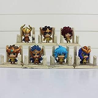 Saint Seiya: Os Cavaleiros do Zodiaco Kit 7 Peças Chibi Pack GOLD II Toy Action Figures