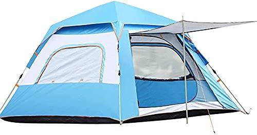 Camping Camping para 3-4 Personas, 5-6 Personas, Impermeables Y A Prueba De Viento, Fácil De Instalar, Mochilero, Ventilado Y Adecuado para Viajes Al Aire Libre Y De Senderismo