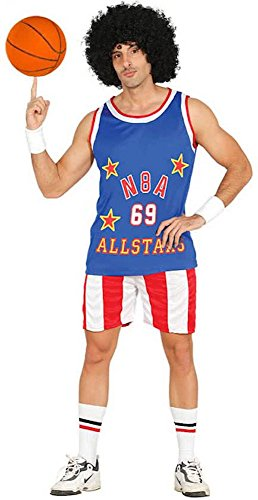 shoperama Herren-Kostüm NBA Allstars Basketball Spieler Sportler Shirt Hose, Größe:M