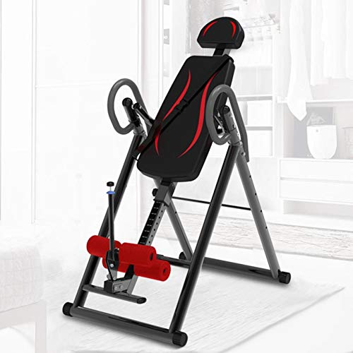 Pacoco Arrowsy Heavy Duty Inversion Table for Back Pain Relief 300 LBS Capacity with 3D Memory Foam, Back Inversion Chair with 180 Degree Full Inversion-US Shipping (Black)