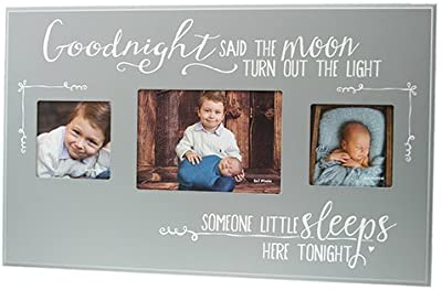 """Kindred Hearts 12.5""""x20"""" Goodnight Said The Moon Cement Three Photo Frame"""