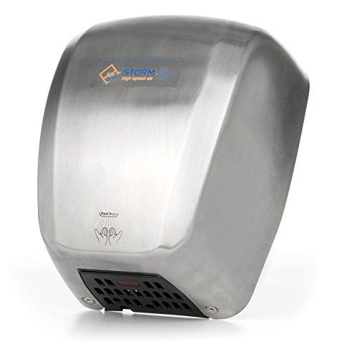 Händetrockner, Schneller und leistungsstarker handlicher Handtrockner Silber Edelstahl - Jet Dryer STORM