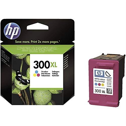 HP 300XL cartouche d'encre authentique HP , grande capacité, trois couleurs cyan, magenta et jaune (CC644EE),pour HP DeskJet F4580 et HP Photosmart C4680/C4795