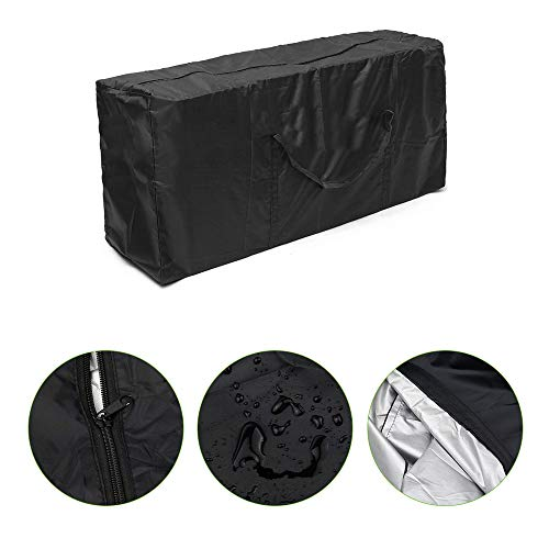 XKMY Bolsas para ahorrar espacio, 1 bolsa de almacenamiento de muebles de jardín para exteriores, gran capacidad, fundas protectoras para asientos, impermeables, multifunción, tamaño 173 x 76 x 51