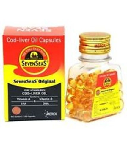 12 X 100 Original Seven Seas Cod Liver Oil 1200 Capsules