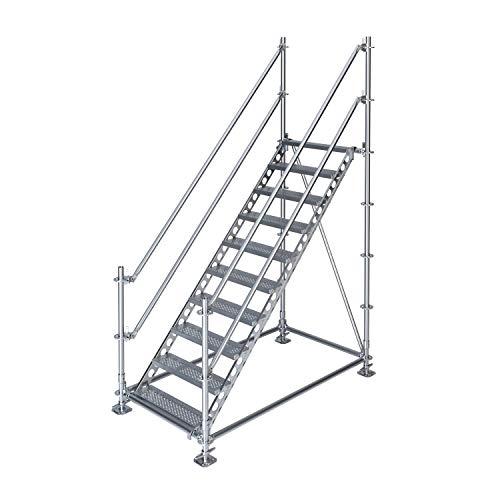 Scafom-rux Escalera exterior para obra (2 m de altura, acero galvanizado)