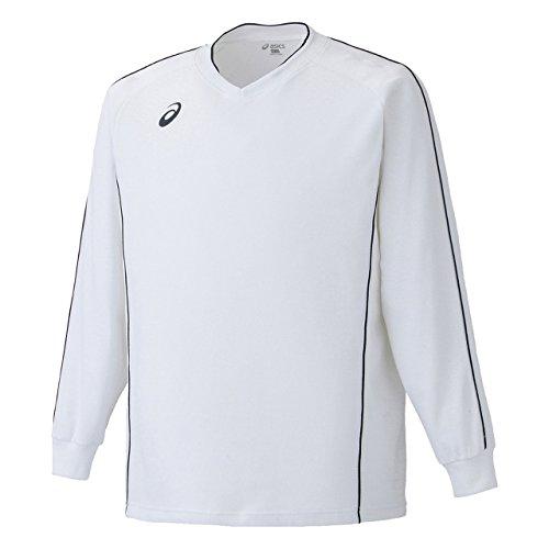 [アシックス] バレーボール シャツ XW6609 メンズ ホワイト/ブラック 日本 S-(日本サイズS相当)