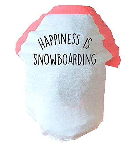 Flox Creative Glück ist Snowboarden Zwei Straffen Hund Weste Rosa oder Blau Gr. Small, Rose
