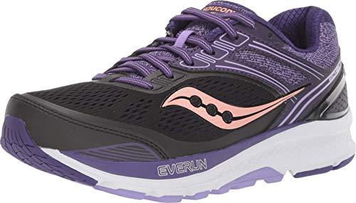 Saucony Zapatillas de running para mujer - Echelon 7 (S10468-37) - Negro/Púrpura