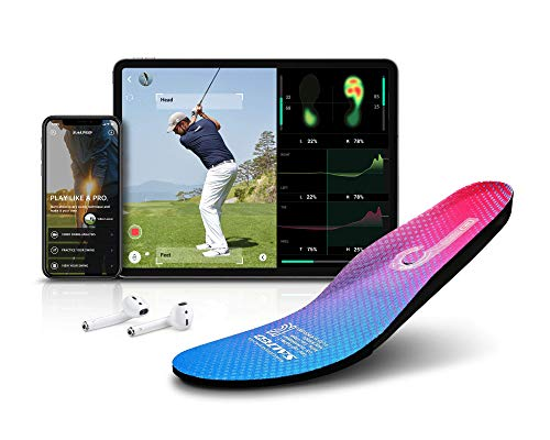 Salted Smart Insoles - Golf and Other Fitness Activities | Analyzes Body Balance and Foot Pressure, Compatible Apps for Android/iOS, IoT Wearable Device, IP68 Waterproof