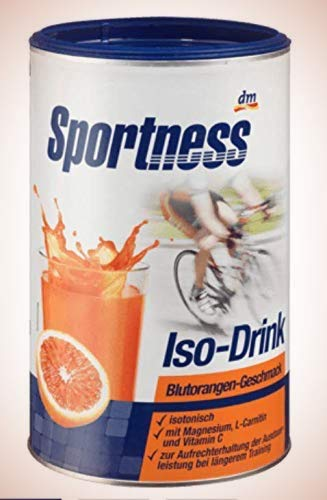 Sportness Iso-Drink Pulver, Blutorangen-Geschmack, 0,75 kg