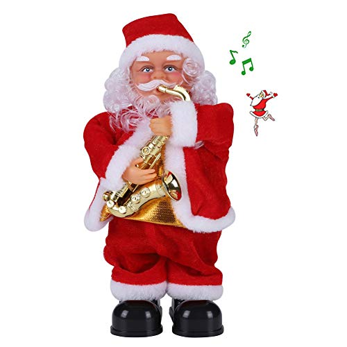 Musical Santa Claus Toys,Dancing and Singing Play Saxophone Santa Claus Doll Tree ornaments Funny Christmas Decor Kids Gifts