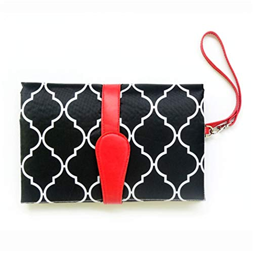 Eleusine Faltbare Wickelauflage für Windeln für Babys und Kleinkinder, Einkaufstaschen (schwarz)