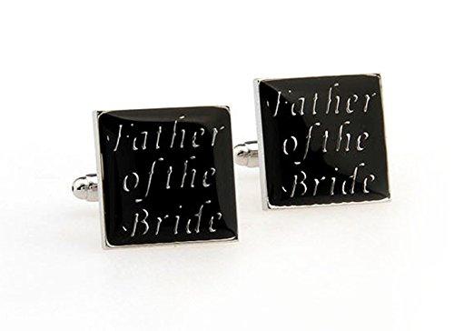"""Gudeke Cadeau pères Lettre """"Father of the Bride"""" Boutons de manchette"""