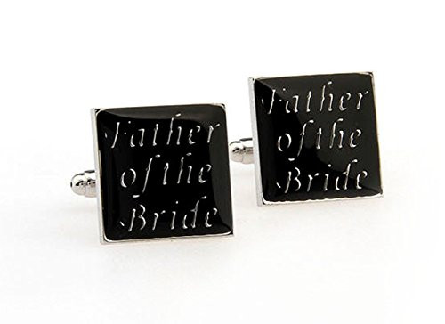 "Gudeke Cadeau pères Lettre ""Father of the Bride"" Boutons de manchette"