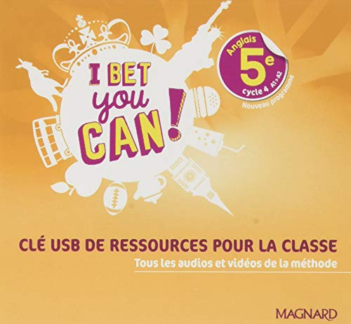I Bet You Can! 5e (2018) - Clé USB ressources classe