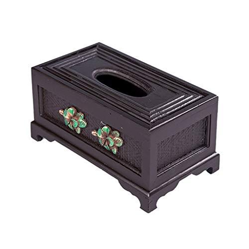Dispensador de toallas Creativa del tejido retro tallado Caja Inicio Sala de almacenamiento Bandeja Sanitaria gama alta caja de comedor Mesa de la caja del tejido de almacenamiento caja de pañuelos