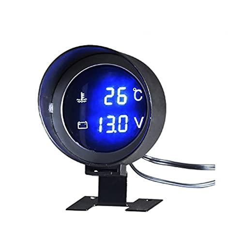 HUIHUI Store Redondo LCD Digital Car Water Temp Temper Gauge Voltímetro Calibrador...