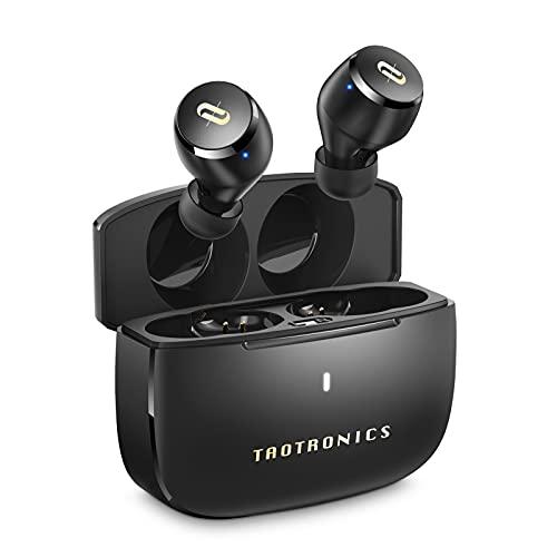 TaoTronics ワイヤレスイヤホン apt-X対応 USB-C充電対応 イヤホン自体9時間再生 合計36時間再生 装着感が快適 Bluetooth5.0 完全ワイヤレス 自動ペアリング SoundLiberty 97 ブラック