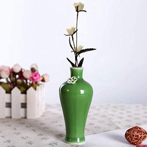 Vaas decoratie Jingdezhen keramische mini vaas groen bloempot hotel restaurant tafel Badkamer vaas artikelen for stoffering, 8,10 (Color : 9)
