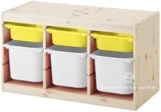 IKEA TROFAST(トロファスト)収納コンビネーション パイン材 イエロー/ホワイト 94x44x52cm PY-Y3WM3