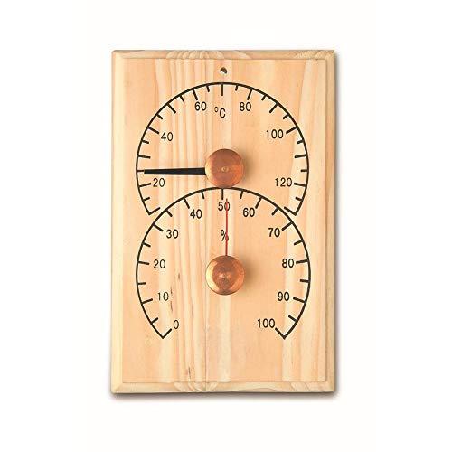 Euopat Hygrometer, Saunathermometer, Holzthermometer-Temperaturanzeige Präziser Digitaler Feuchtigkeitsmonitor Saunaraumzubehör