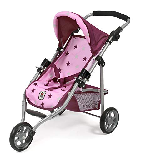 Bayer Chic 2000 612 78 Jogging Buggy Lola, Puppenwagen, Stars Brombeere