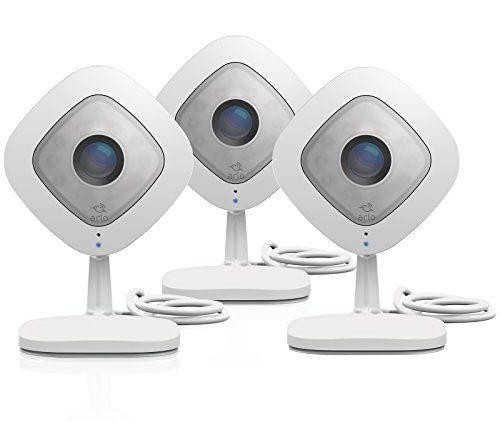 Arlo Q – Wired, 1080p HD Security Camera (3 Pack)| 2-way Audio | Indoor only | Cloud Storage...