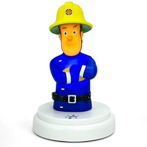 Alecto Feuerwehrmann Sam Nachttischlampe für Baby oder Kinder Batteriebetrieben Nachtleuchte auf LED mit Touch Bedienung Nachtlampe Schlummerlicht Stimmungslicht