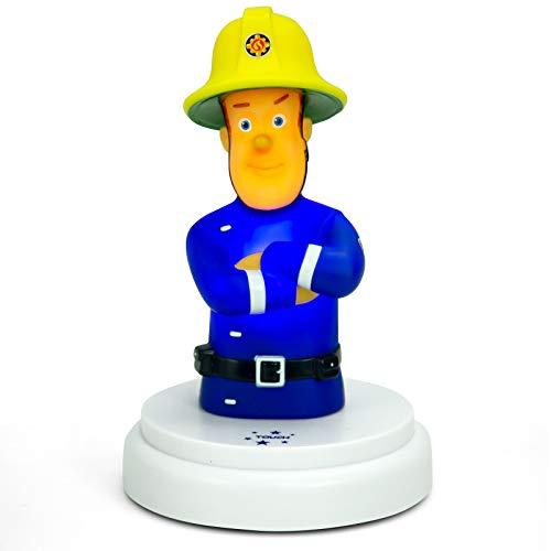 Alecto Brandweerman Sam bedlampje voor baby's of kinderen, werkt op batterijen, led-nachtlampje met touch-bediening, nachtlampje, sluimerlicht, sfeerlicht