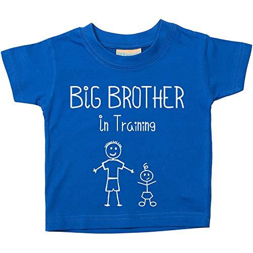 Big Brother in Training Blu Maglietta Bambini Piccoli disponibile nelle taglie da 0-6 Mesi to 14-15 Anni Nuovo Da Bambino Fratello Regalo - Blu, 3-4 anni