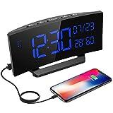 Mpow Digitaler Wecker, Digitaluhr mit Temperaturanzeige, Hygrometer, 6.5' LED Alarm Clock, Dual-Alarm, 3 vernderbare Klingeltne, 6 Helligkeit, Reisewecker, Tischuhr mit Kalender, Wochenende...