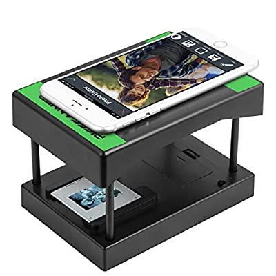 Rybozen Mobile Film and Slide Scanner, Converts 35mm Slides & Negatives into Digital Photos with Your Smartphone Camera, Interesting Presents and Toys with LED Backlight?2AA Batteries not Included
