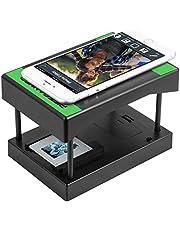 Rybozen Mobilephone Escáner de Negativos y diapositivos 35 mm, Convierte Tus Negativos y Diapositivas en Fotos Digitales,Utiliza u Smartphone– No Requiere Ordenador Negro