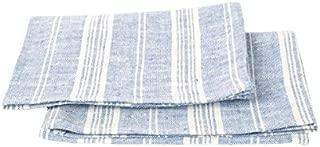 LinenMe Set of 2 Multistripe Linen Hand Towels, 18 by 28