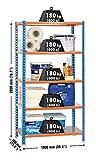 SimonRack SI414 Kit Estantería con 5 Estantes, AZUL/NARANJA/GALVA, 2000 x 1000...