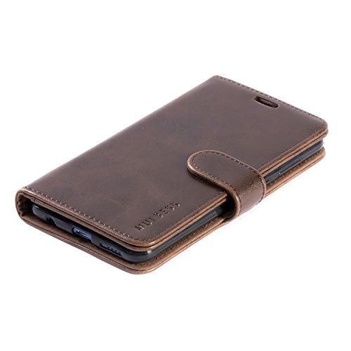Mulbess Handyhülle für Honor 7X Hülle, Leder Flip Case Schutzhülle für Huawei Honor 7X Tasche, Vintage Braun - 5
