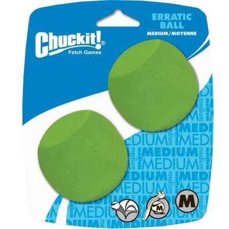 Chuckit! 20120 Erratic Ball 2 Pelotas para Perros Compatible con el Lanzador,...