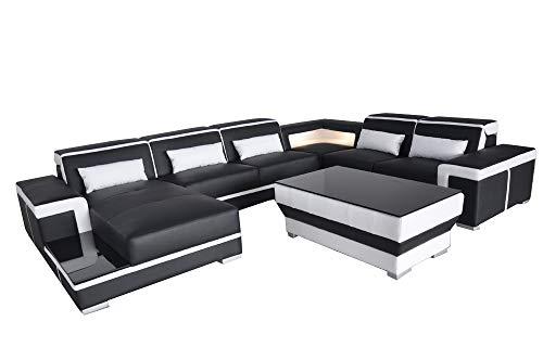 JVmoebel XXL Leder Sofa Polster Wohn Couch Sitz Garnitur Ecke Eck Sofas Couchen U Form