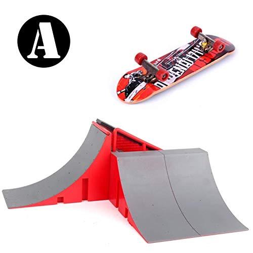YWAWJ Finger Skate Legierung Metall Fingertip Große Finger Scooter Extreme Finger Sports Skateboard Spielzeug Ausbildung Props Tech Deck mit Fingerboards (Color : A)